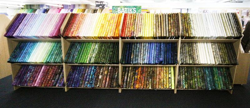 Hobbysew's enormous range of batiks