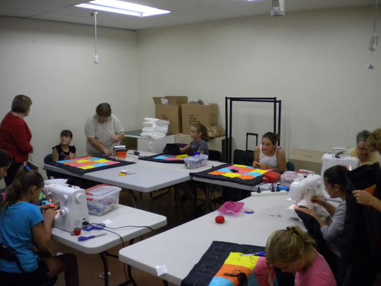 A class happily involved in the creative process