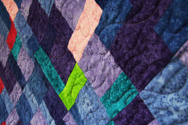A simple yet very beautiful patchwork quilt
