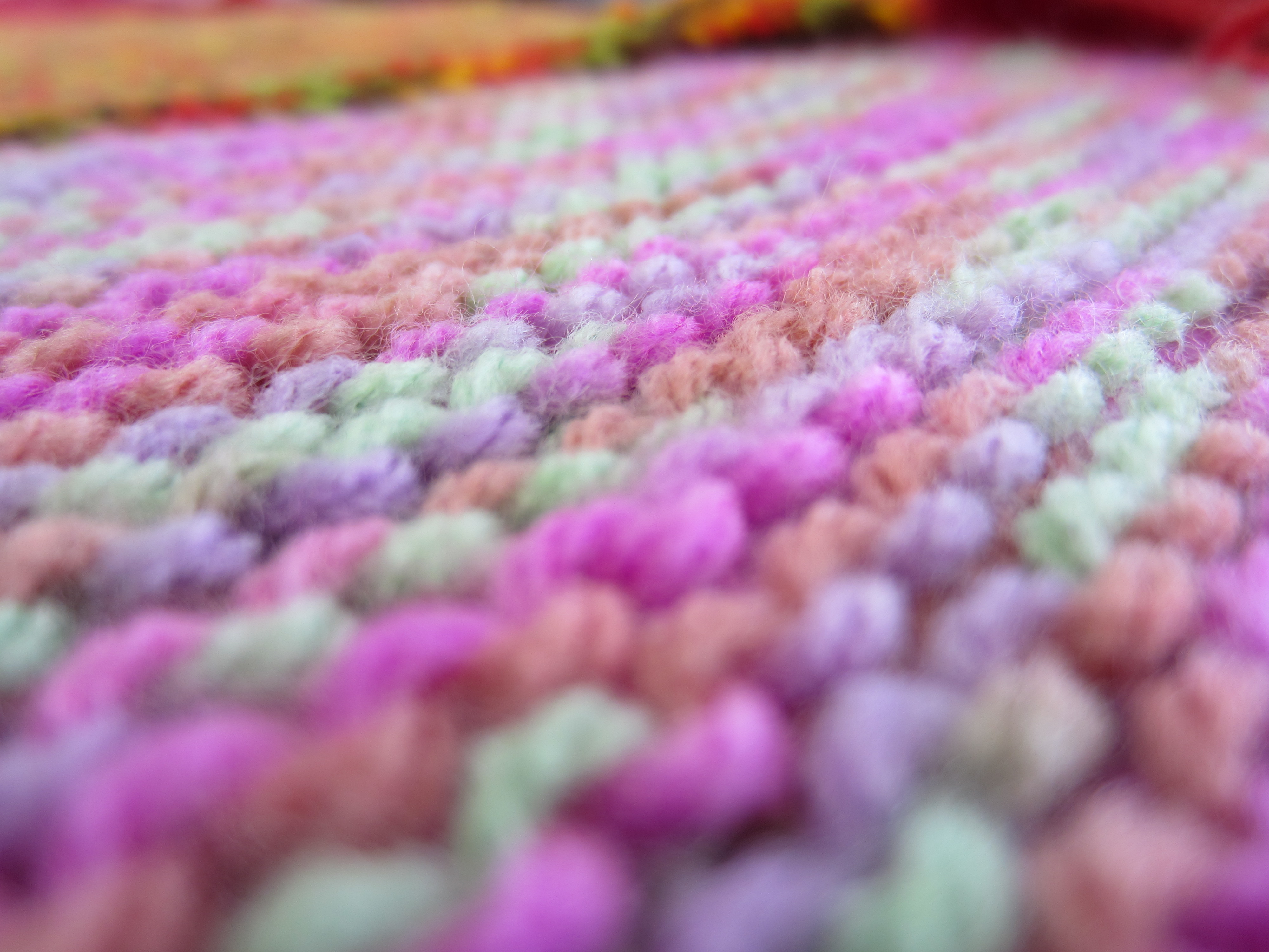25cm knitted squares