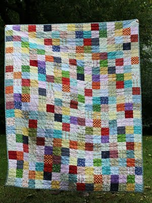A wonderful patchwork quilt made by Audrie