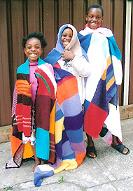 Children of Sierra Leone with wraps