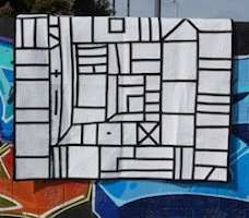 The Big Log Quilt by Latifah Saafir from International Quilt Festival