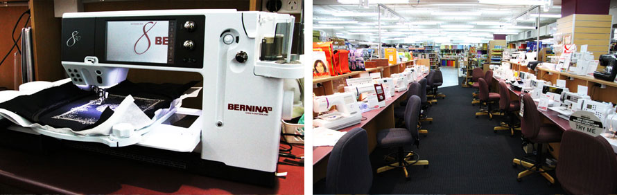 Sewing Machines: Bernina, Husqvarna, Janome